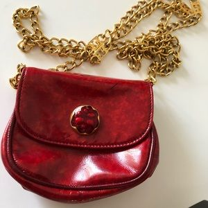 Authentic Mini Red Patent Leather ESCADA Bag